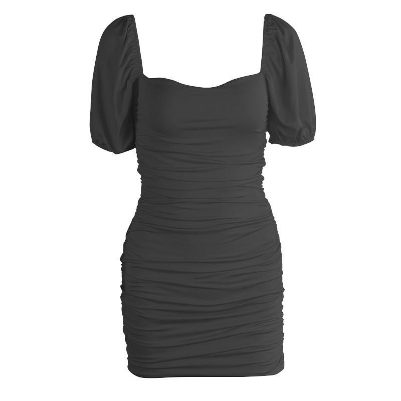 Classic Puff Sleeve Bodycon Dress