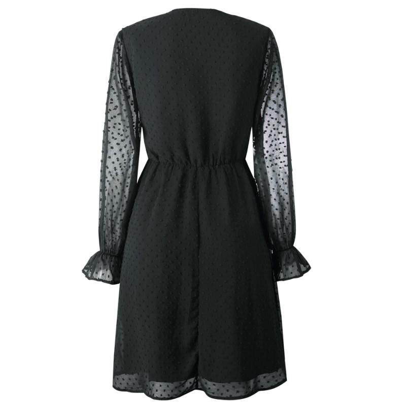 OL Long Sleeve Empire Waist A Line Dress