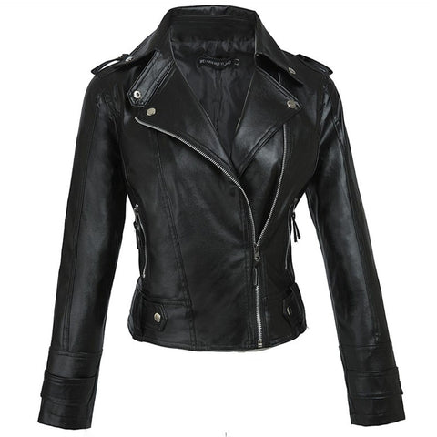 Faux Leather Black Moto Jacket