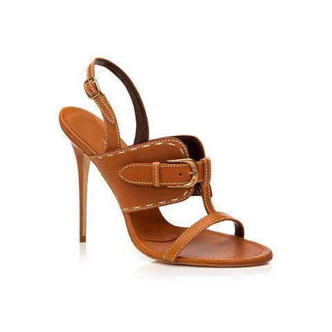 Simple Open Toe Ankle Wrap Stiletto High Heel Sandals