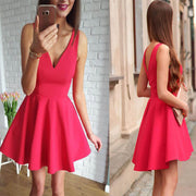 Sleeveless V Neck Sundress