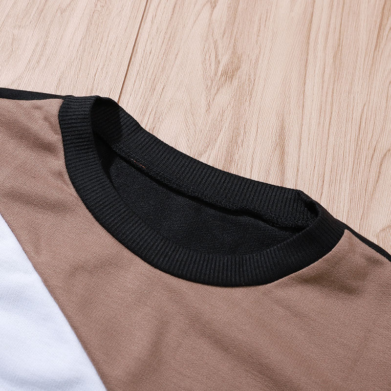 Crewneck Colorblock Petite Knit Sweater