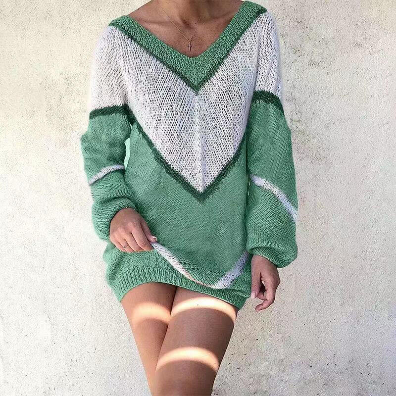 Fashion Patchwork Pullover Sweater