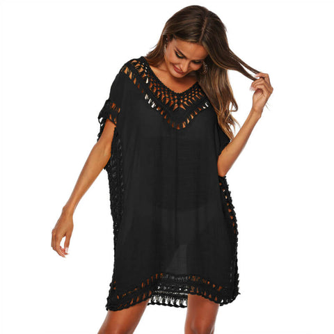Hollow Out Short Beach Dress