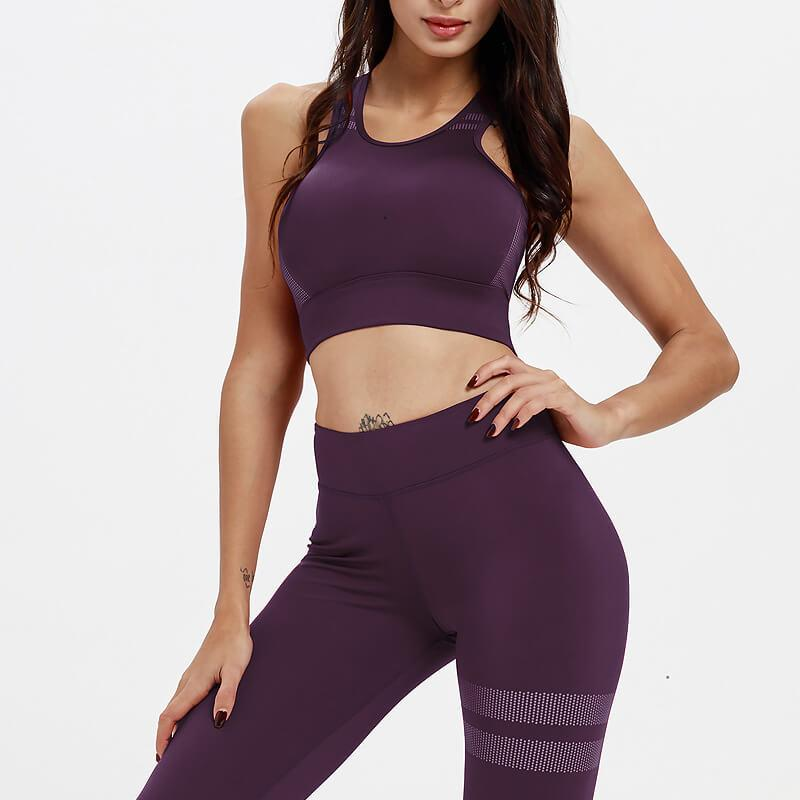 Yoga Plain Tank Top High Waist Bodycon Skinny Pant Sets