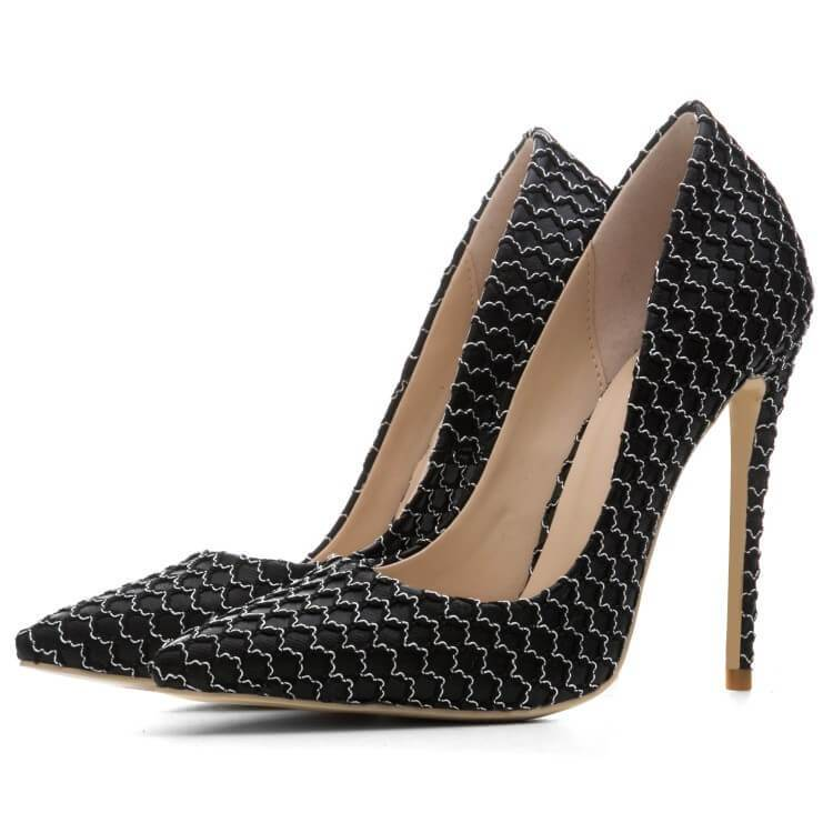 Point Toe Ankle Sexy Close Toe Stiletto Heel Pumps