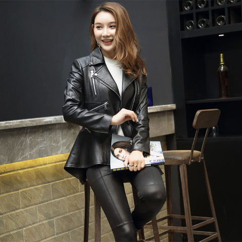 PU Zipper Moto Jacket