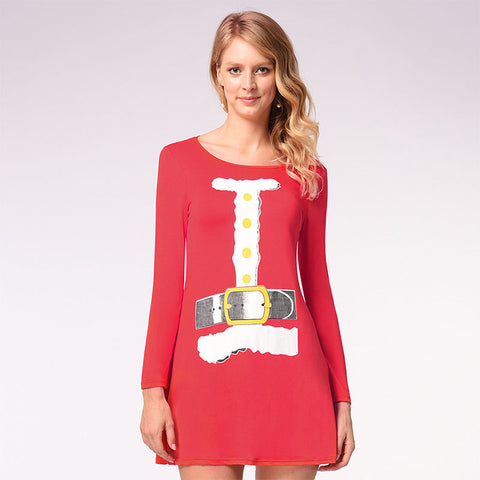 Christmas Plus Size Tight A Line Dress