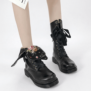 Military Ankle Boots Lace Up Boots