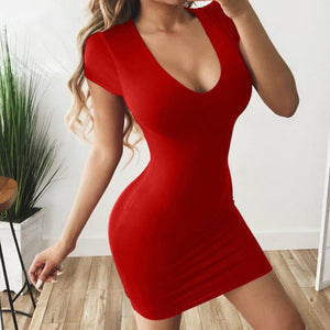 Sheath Low Cut Petite Bodycon Dress