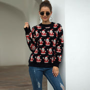 Santa Faux Mink Christmas Pullover Sweater