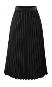 Solid Pleated Long Slim Skirt - Bags in Cart - 5