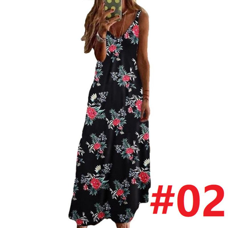 Floral Printed Ankle Length Beach Dress
