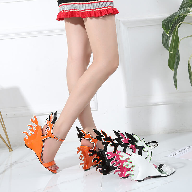 High Heel Pointed Toe Cutout Sandals