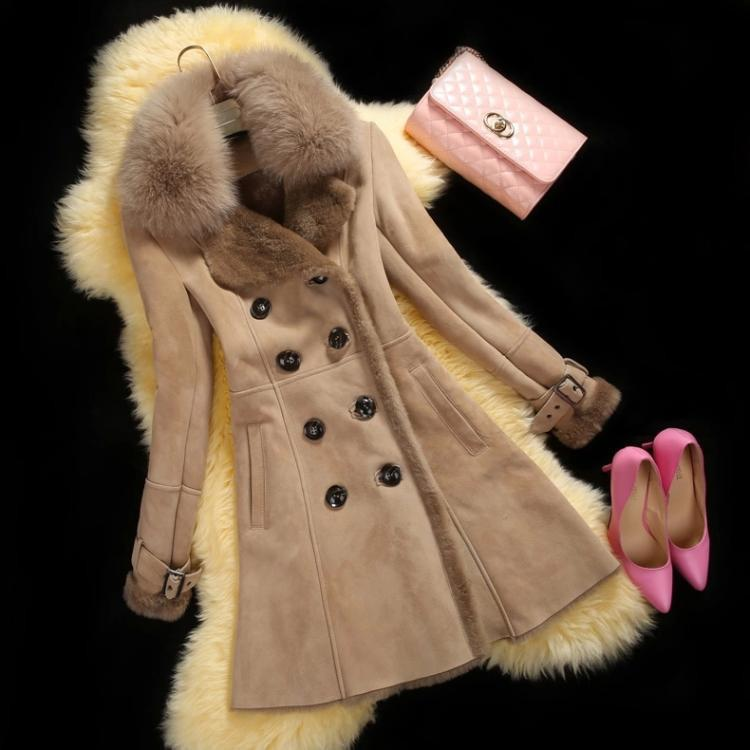 Lapel Fur Collar Long Fur Coat - Meet Yours Fashion - 2