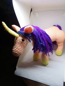 Unicorn Crochet Toy