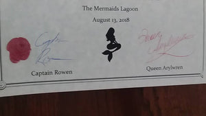 Certificate of Mermaid Adoption