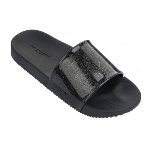 Zaxy Black Glitter Snap Slide