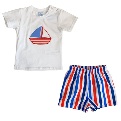 Sardon Red/Blue Short Set