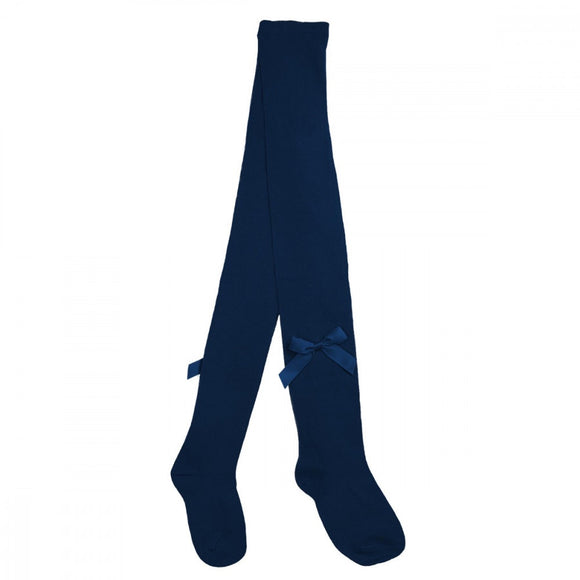 Pex Navy Bow Tights