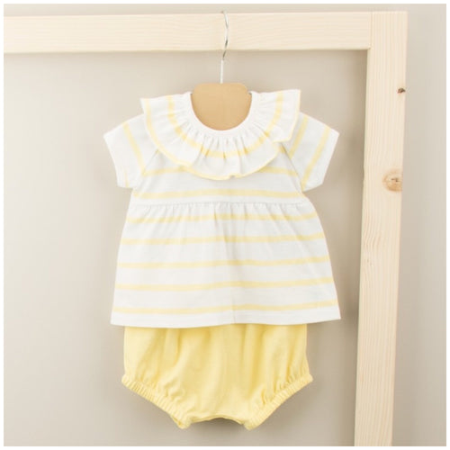 Babidu Girls Yellow Striped 2 Piece