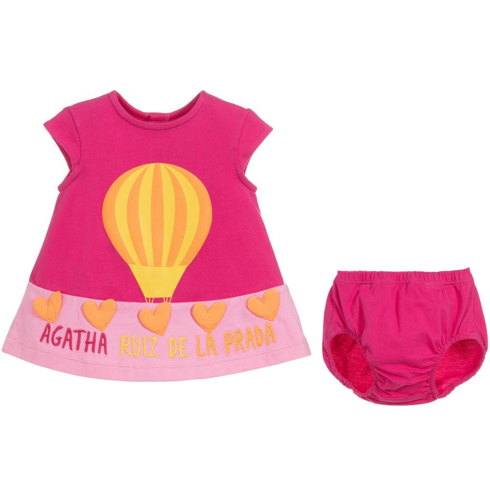 Agatha Pink Hot Air Balloon Dress and Knickers
