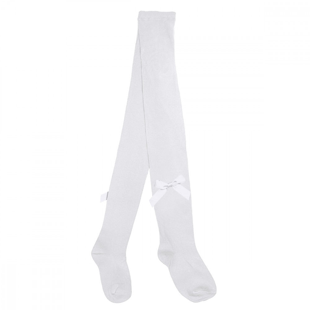Pex White Bow Tights