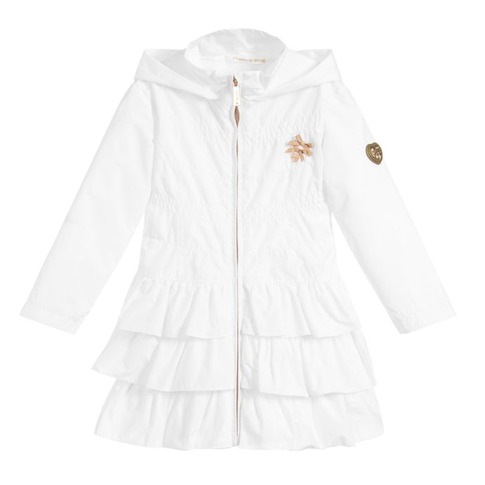 Le Chic White Ruffle Jacket