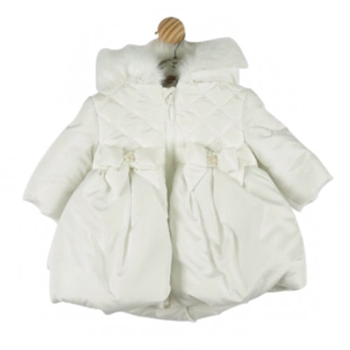 Mintini Baby White Bow Coat