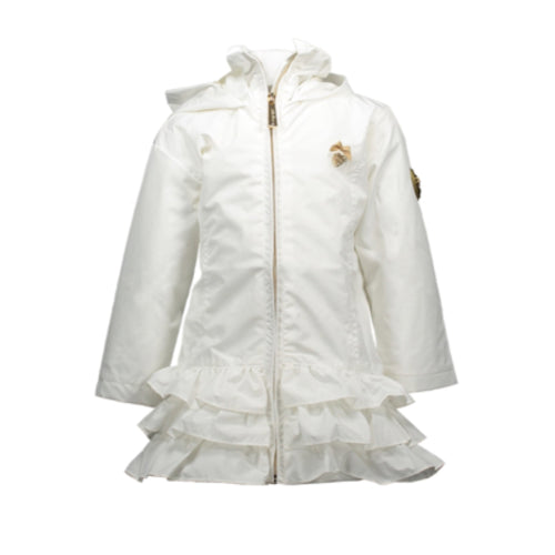 Le Chic Baby White Ruffle Jacket