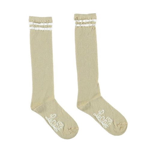 Le Chic Gold Knee High Socks
