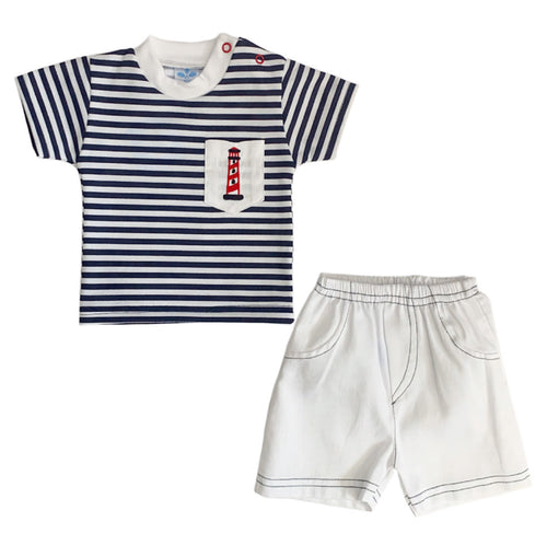 Sardon Navy Short Set