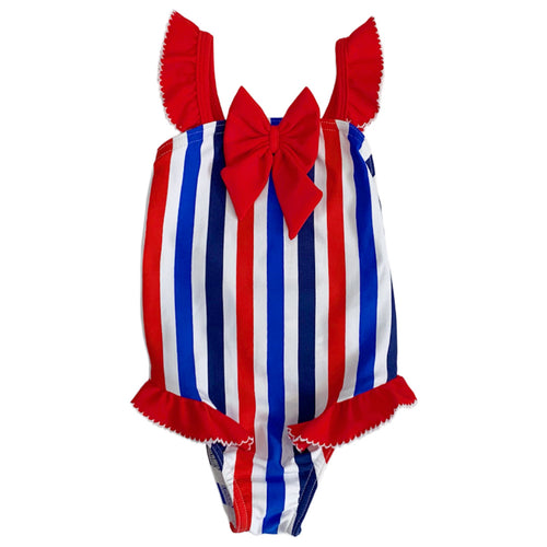 Sardon Blue/Red Swimsuit