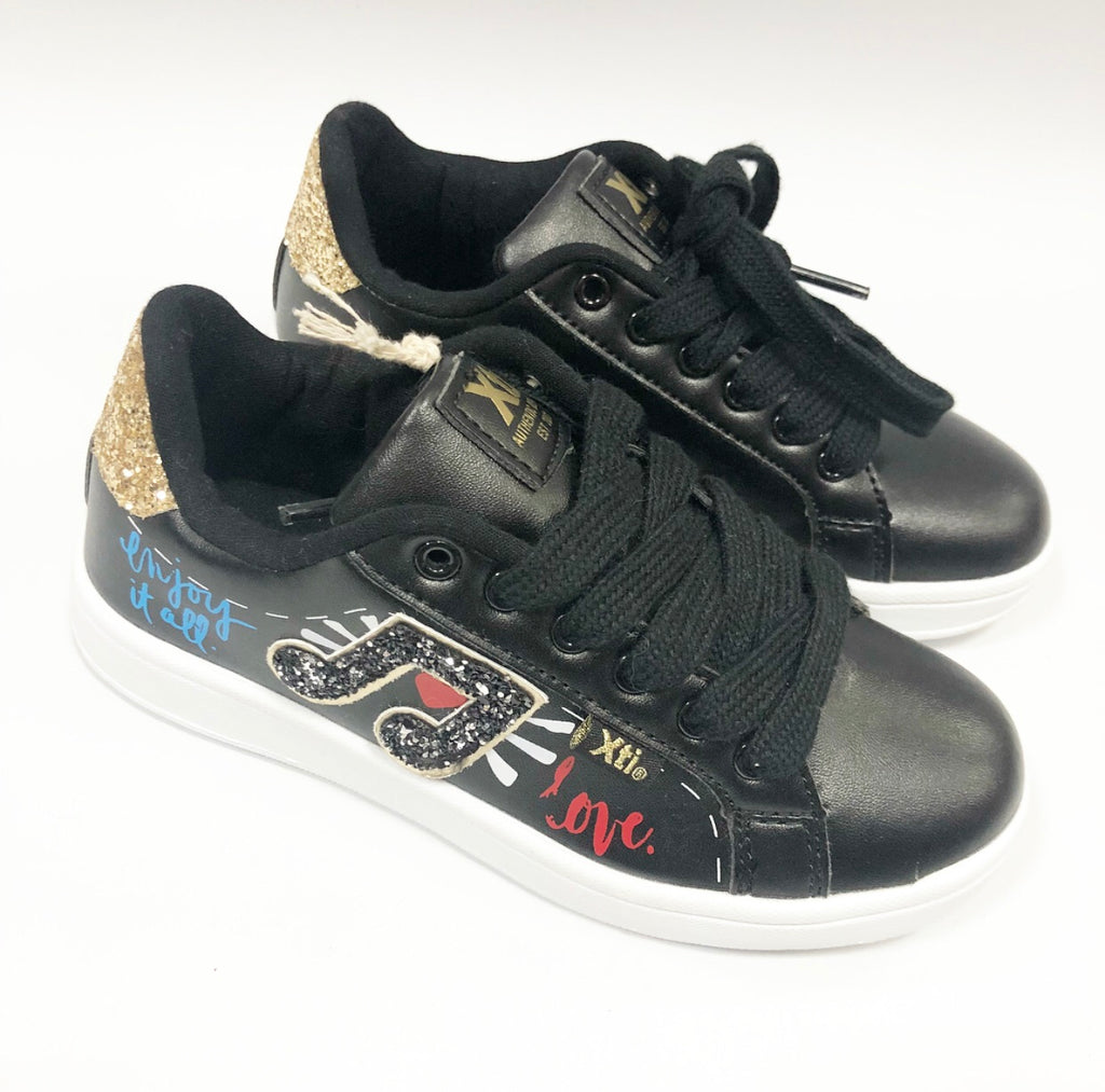 Xti Black Music Trainers