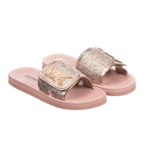 Michael Kors Pink Sliders