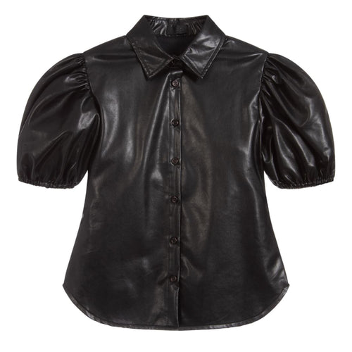 Fun&Fun Black Faux Leather Shirt