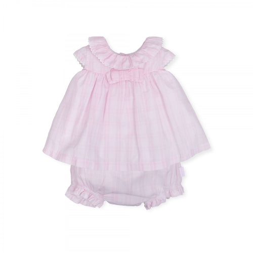 Tutto Piccolo Pink Checked Dress and Knickers