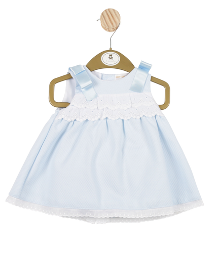 Mintini Blue Dress and Bloomers