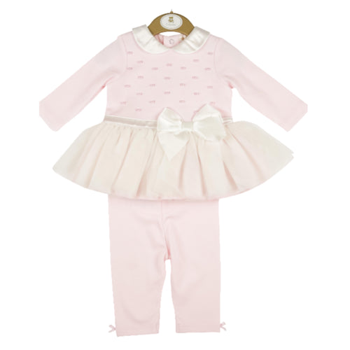 Mintini Baby Pink Tulle Dress and Leggings