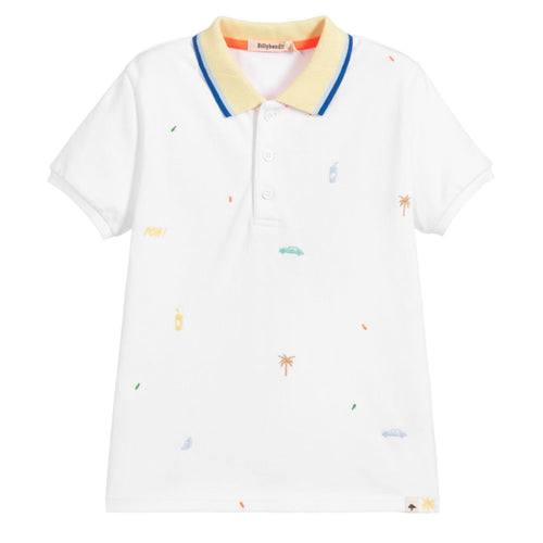 Billybandit White Polo Top