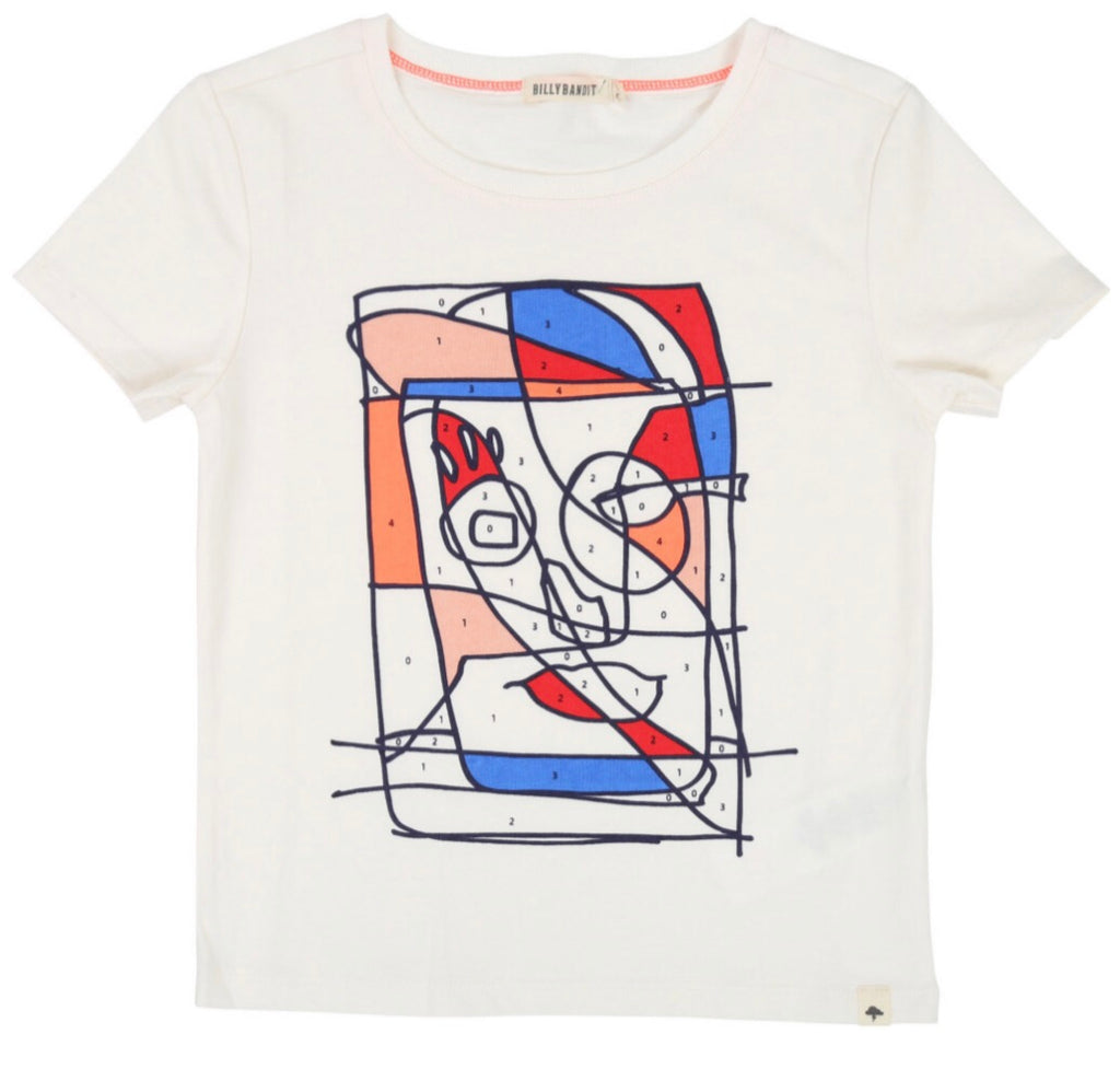 Billybandit Colour-In Face T-Shirt
