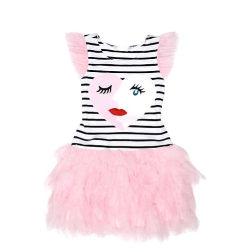 Kate Mack Striped Face Dress