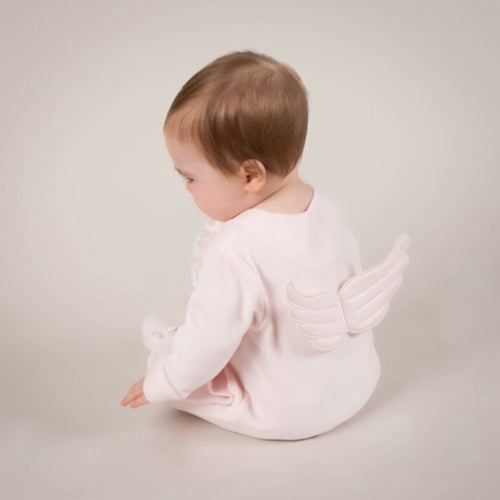 Pink Velour Winged Babygrow (OUT OF STOCK)