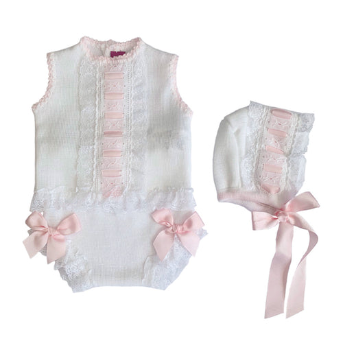 Nini White/Pink 3 Piece Set