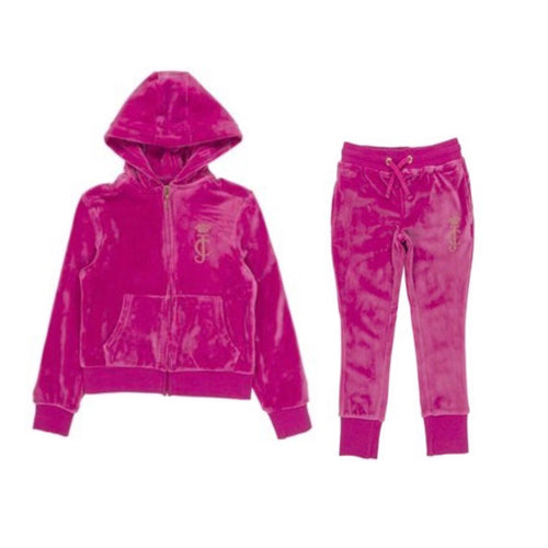 Juicy Couture Raspberry Rose Velour Tracksuit