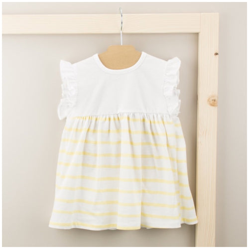 Babidu Girls Yellow Striped Dress