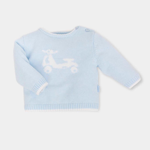 Tutto Piccolo Blue Motorcycle Jumper