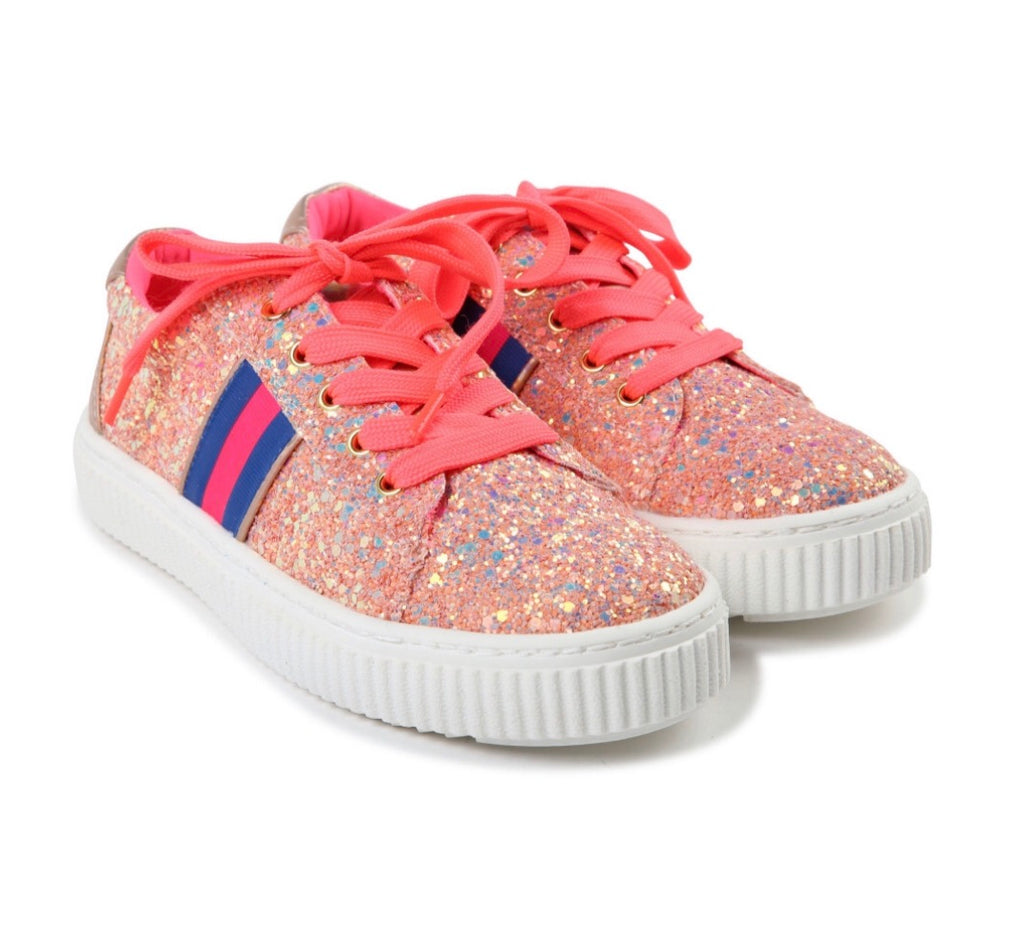 Billieblush Glitter Stripe Trainers