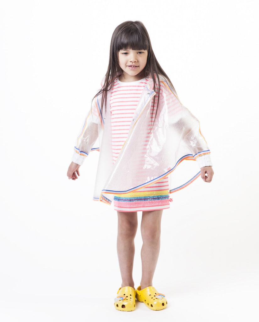 Billieblush Opaque Stripe Poncho Mac
