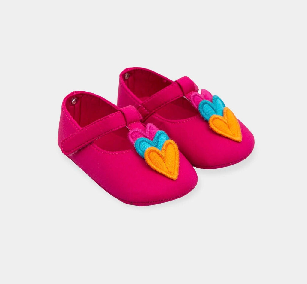Agatha Pink Heart Soft Sole Shoes